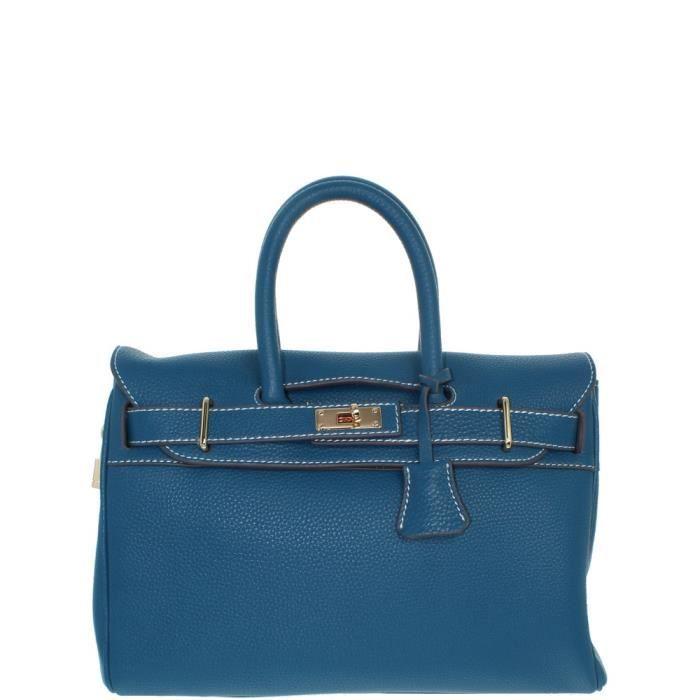 Sac à main Mac Douglas Pyla Romy cuir ref_mac35831 Bleu XS