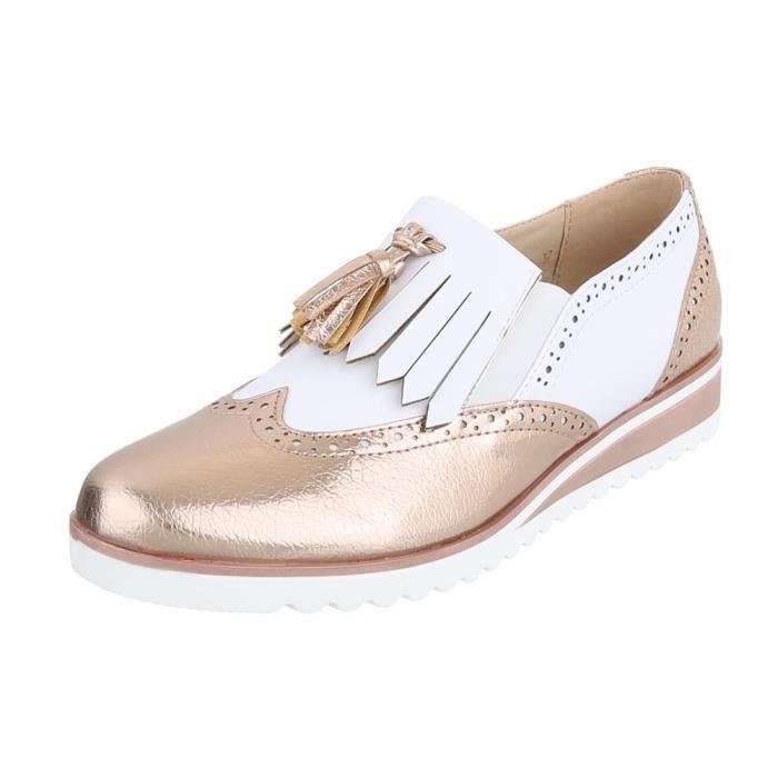 Chaussures femme flâneurs Moderne or blanc 41 yzZ9t