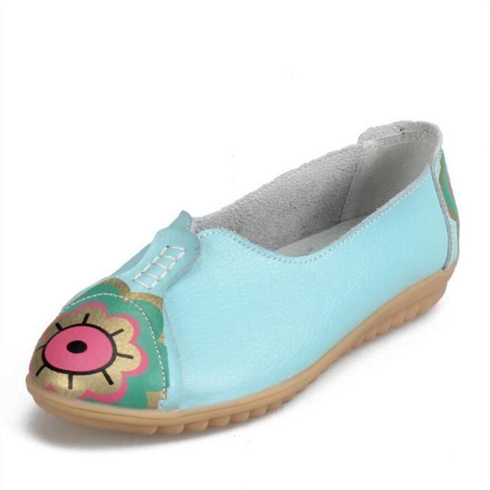 Moccasins Femmes nouvelle marque de luxe chaussure Confortable Respirant Moccasin En Cuir Grande Taille