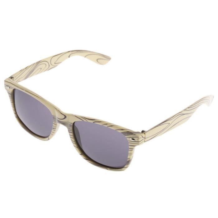 daf1206d4e0003 YKS fashion feuille grise BZ046 imitation bois lunettes de soleil cadre  beige ...