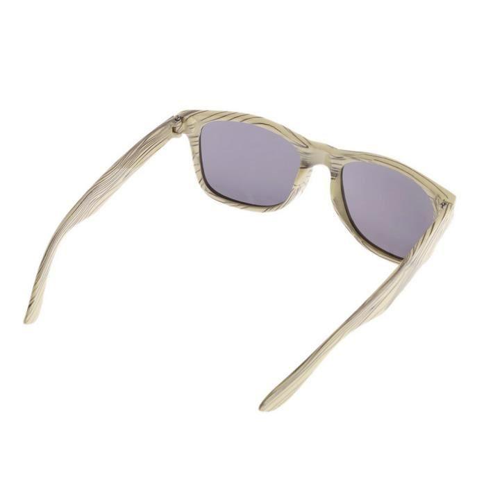 872afe8b654fe6 ... YKS fashion feuille grise BZ046 imitation bois lunettes de soleil cadre  beige ...