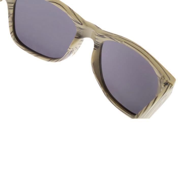 4ee0d553c589f4 ... YKS fashion feuille grise BZ046 imitation bois lunettes de soleil cadre  beige