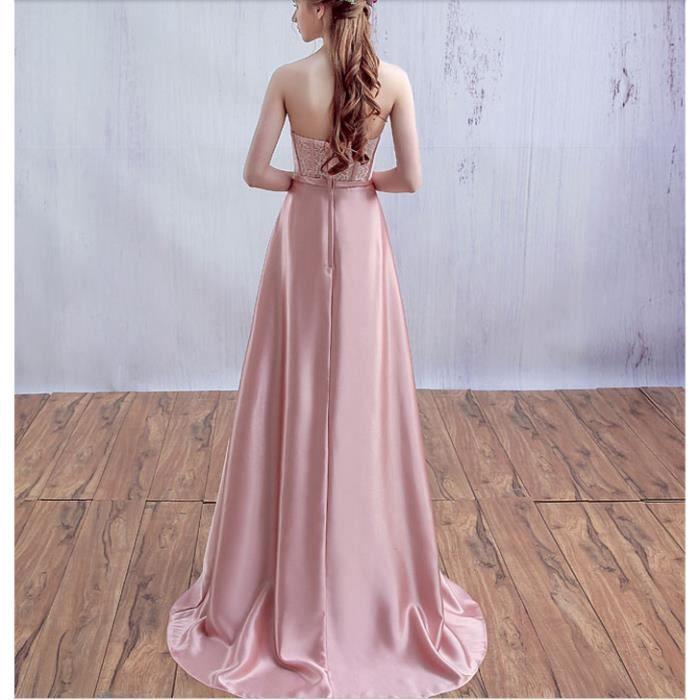 Robe de soirée 2017 printemps nouvelles ceintures sexy robe de demoiselle dhonneur petite traîne banquet robe robe de mariée robe