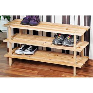 Bo te de rangement tiroir achat vente bo te de - Range chaussures bois ...