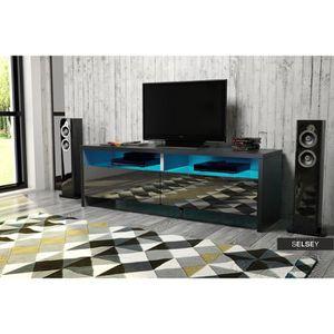 Meuble tv achat vente meuble tv pas cher cdiscount - Meuble tv noir mat ...