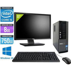 UNITÉ CENTRALE + ÉCRAN DELL PC de Bureau 7010-Core i5 - 8G- 750G- Win. 10
