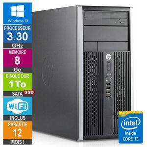 UNITÉ CENTRALE  PC HP Pro 6300 MT Core i3-3220 3.30GHz 8Go-1To SSD