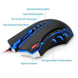 SOURIS Souris laser de jeu MMO 50 à 24000 DPI pour PC, pr