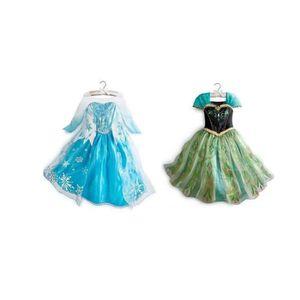 DÉGUISEMENT - PANOPLIE Deux Robe Princesse Elsa et Anna Reine des Neig-Fi