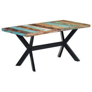 TABLE À MANGER SEULE vidaXL Table de salle à manger 160x80x75cm Bois de