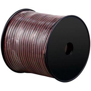 CÂBLE TV - VIDÉO - SON câble haut-parleur rouge / noir 100 2 x 1,5 mm ²