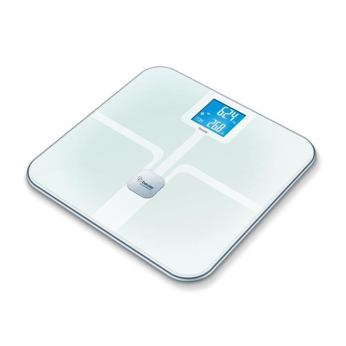 Beurer Pèse-personne impédancemètre en verre BF 800 blanc