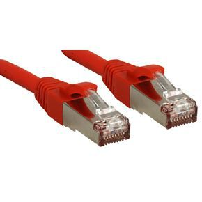 LINDY Câble réseau patch cat.6 S/FTP PIMF Premium - cuivre - LSOH - 500MHz - 2 m - rouge