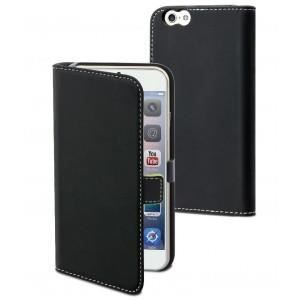 MUVIT Slim Etui - Noir - Pour Apple Iphone 6, 6s +