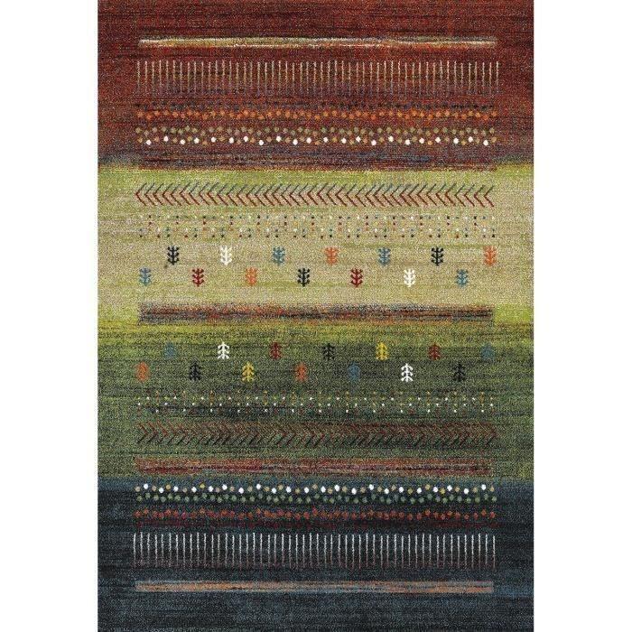 Matière : 100% polypropylène - Dimensions : 120x170 cm - Coloris : rouge, vert et bleu - Densité : 3 000 gr/m²TAPIS - DESSOUS DE TAPIS