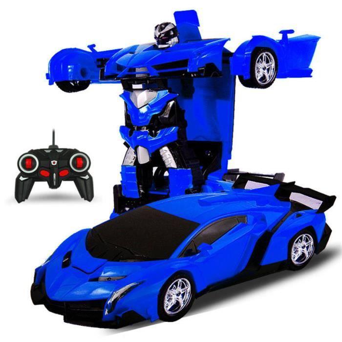 Robot Bleu De Transformation À 1 Déformation 2 Sport Robots Distance Jouet En Batterie Rc Jouets La Modèle Voiture zqUGVMpS