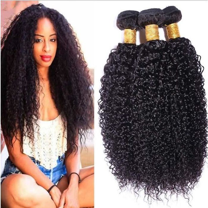 3 tissages bresilien kinky curly virgin hair 20 50g pcs 100 naturel hair extension achat. Black Bedroom Furniture Sets. Home Design Ideas