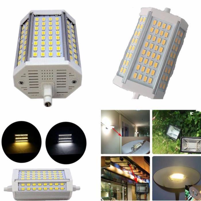 Ampoule R7S 30W 3000lm 118mm 64 SMD LED 5730  85-265V Maison Blanc chaud