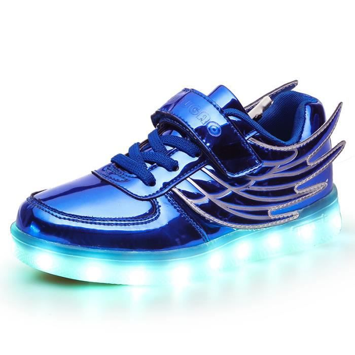 Mode lumineux chaussures enfant Les LED USB cha...