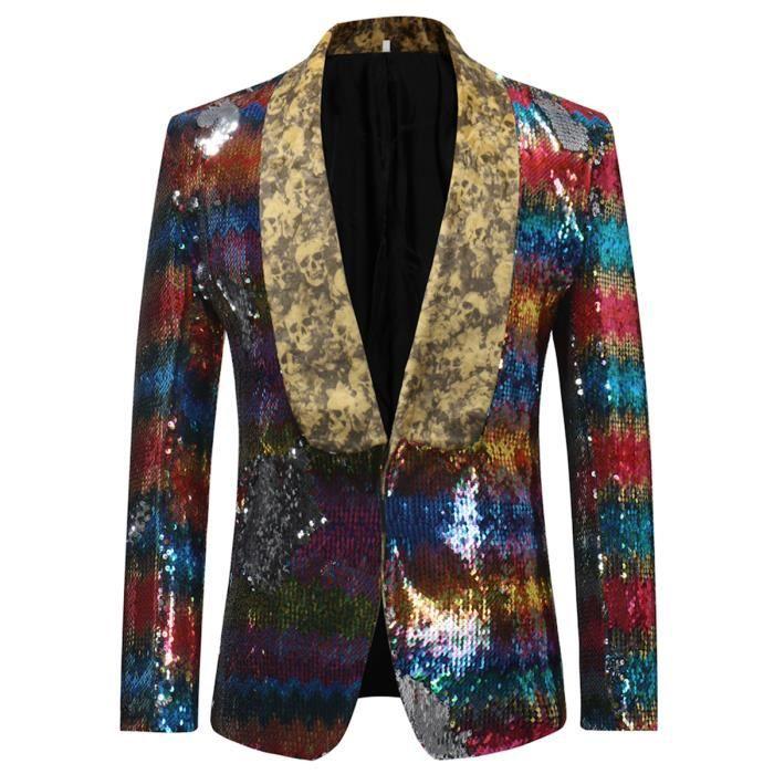 Costume Bouton De Homme Avec Blazer Un Veste Pour Paillette 6wFHqAAx7