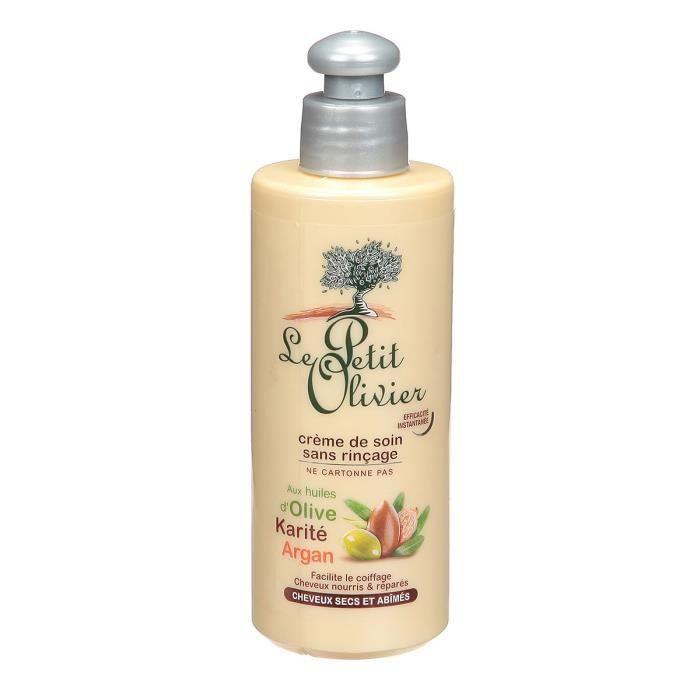 le petit olivier crème de soin cheveux secs - huile d'olive, beurre