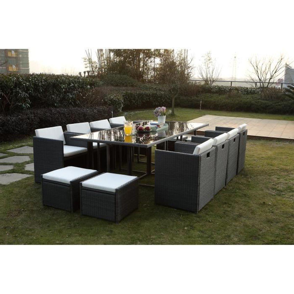 Vito Salon jardin gris encastrable 12 personnes - Achat / Vente ...