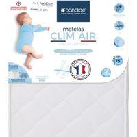 MATELAS BÉBÉ CANDIDE Matelas bébé Clim Air pour lit 70x140 cm