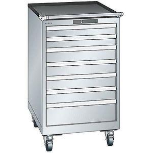 ARMOIRE DE BUREAU Lista Armoire à tiroirs en tôle d'acier - h x l 99