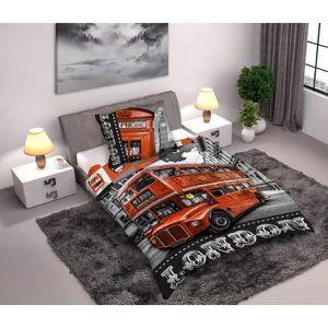housse de couette london 1 personne achat vente housse de couette london 1 personne pas cher. Black Bedroom Furniture Sets. Home Design Ideas