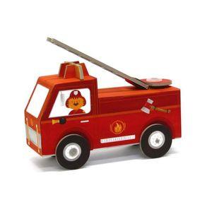 LIVRE DE COLORIAGE Jouet à plier : Fold my car! : Camion de pompiers