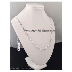 db14bdd72343a CHAINE DE COU SEULE Chaîne diamantée en Argent Massif Longueurs 45cm-