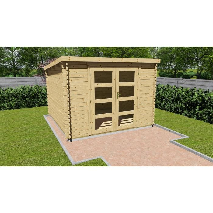 abri de jardin toit plat achat vente pas cher. Black Bedroom Furniture Sets. Home Design Ideas