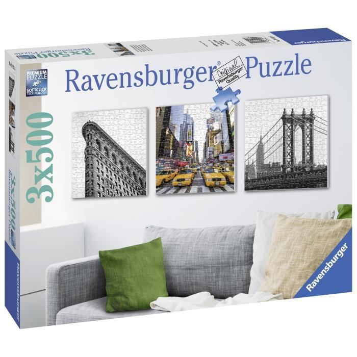Puzzle 3 x 572 pcs Impressions De New-York