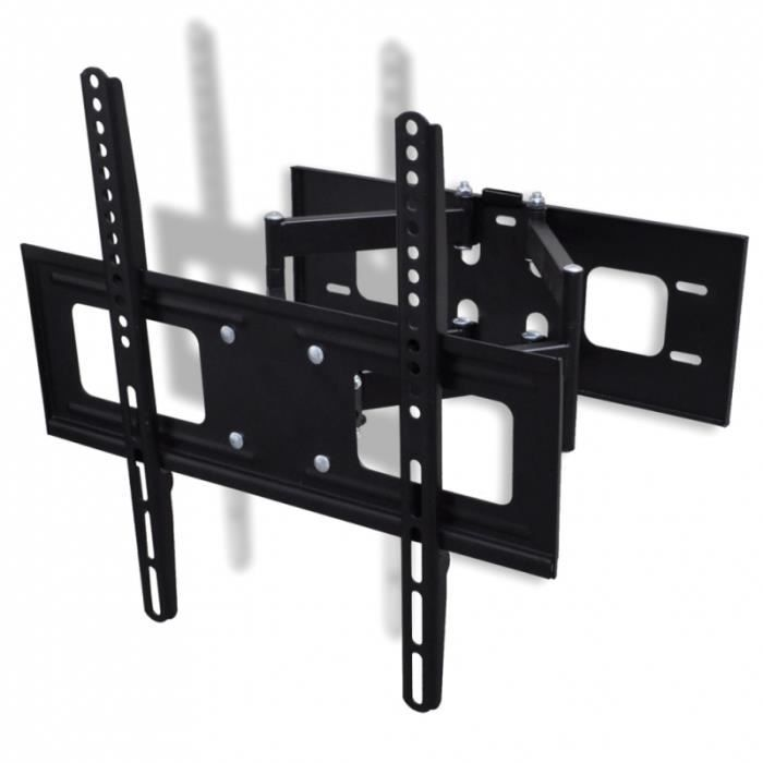 Support Mural Tv Orientable Et Inclinable 37 55 Pouces Lcd Plasma
