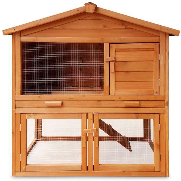 Zooprimus abris cage pour petits animaux grande cage clapier extérieur en  bois pour Lapins 030 Mucky 9cd8cb086319