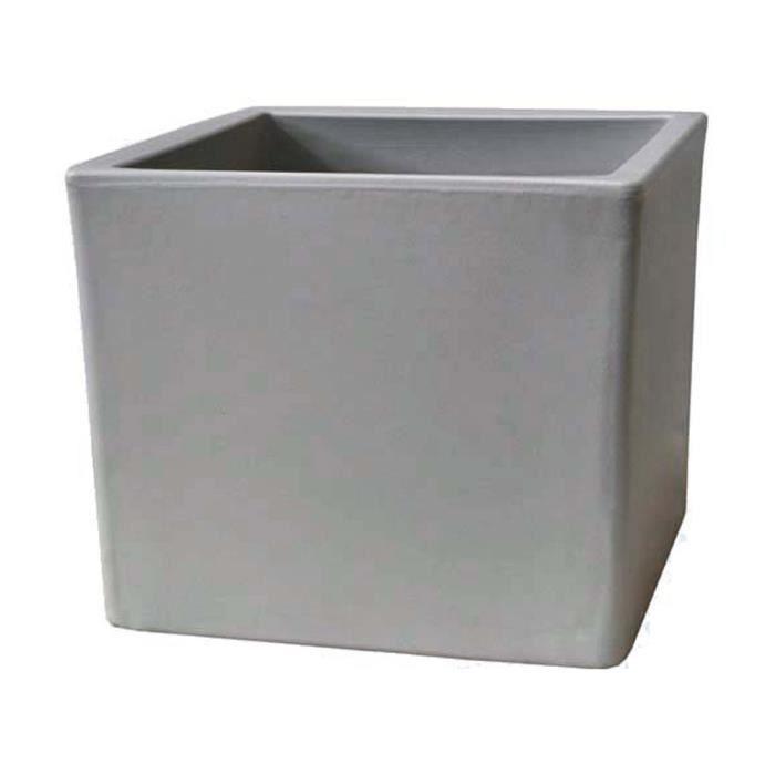 """Bac A Fleur Ciment bac à fleurs """"cubico"""" 40 x 40 x 35 cm gris ciment - achat / vente"""