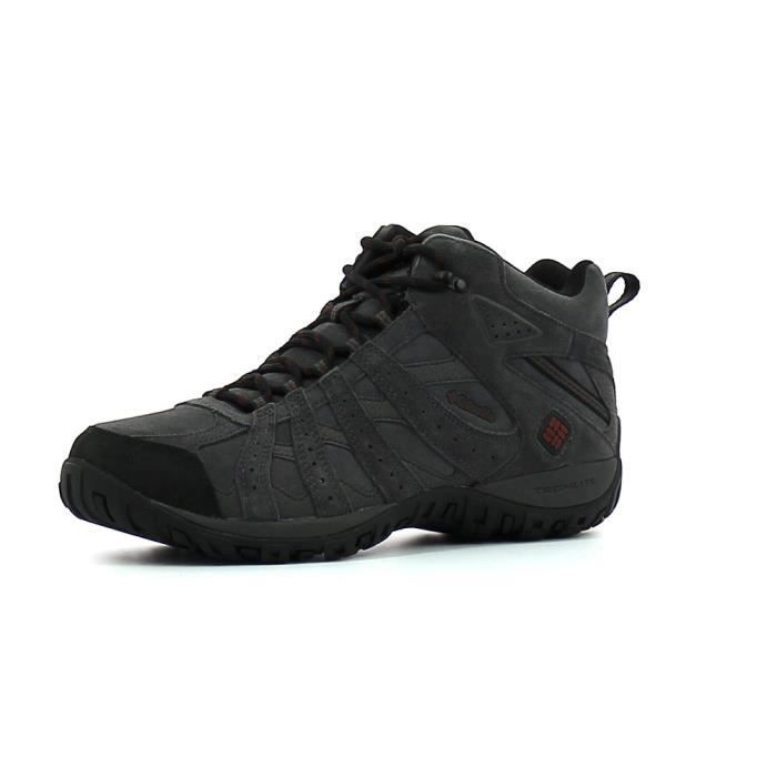 Columbia Redmond Leather Omni-Tech Marron - Livraison Gratuite avec - Chaussures Chaussures-de-randonnee Homme
