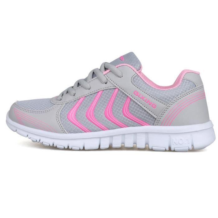 d7ac72704a763 Homme Femme Chaussures Mode Basket Loisirs Chaussures de sport Rose ...