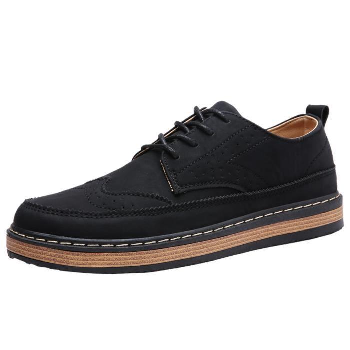 britannique Brand Chaussure Hommes Loisirs De de plein Style Sneaker Plus Mode air Chaussure Taille AntidéRapant Homme De T0IOP