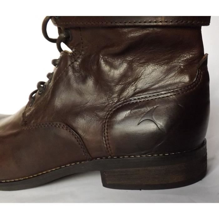 GRAND TAILLE BOTTES CUIR HOMME CHAUSSURES T 46 NEUVES Zve99zs