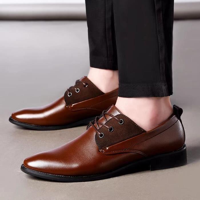 Derby 2017 Le printemps et l'été en plein air hommes chaussures en cuir décontractée nyjSuZPM
