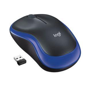 Logitech souris sans fil optique - M185 Bleu