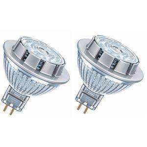 OSRAM Lot de 2 Ampoules spot LED MR16 GU5,3 7,8 W équivalent ? 50 W blanc chaud dimmable