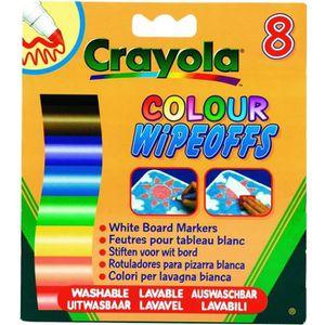 CRAYOLA 8 Feutres A Colorier Effaçables (Pointe Large)