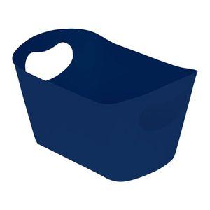 SET ACCESSOIRES Panière de rangement 22,5x4,5x13 cm Bleu indigo