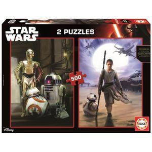 PUZZLE STAR WARS VII Puzzle 2 x 500 Pièces