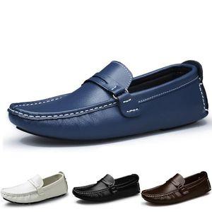 BATEAUX Cuir hommes appartements mens chaussures condui...