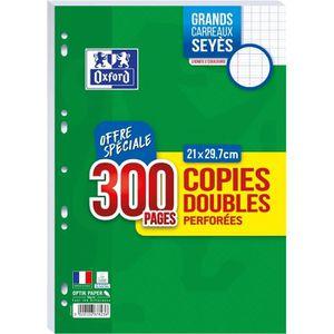 FEUILLET MOBILE OXFORD - Copies doubles perforées 300 pages seyès