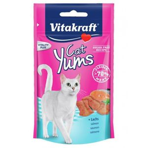 CROQUETTES Vitakraft Cat Yums au Saumon Pour Chat 40g (lot de
