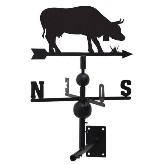 Girouette vache en fer forgé • Girouette • Objet déco jardin - Achat ...